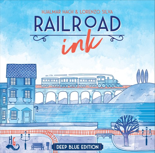 Railroad Ink Board Game: Deep Blue Edition