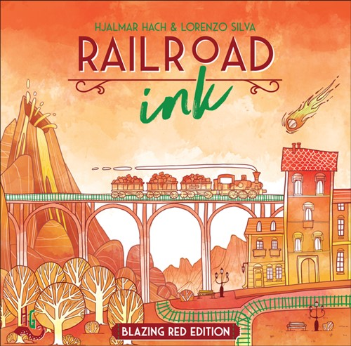 Railroad Ink Board Game: Blazing Red Edition