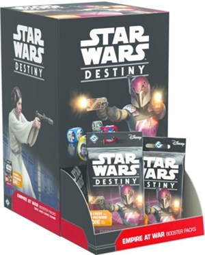 Star Wars Destiny Dice Game: Empire At War Booster Display