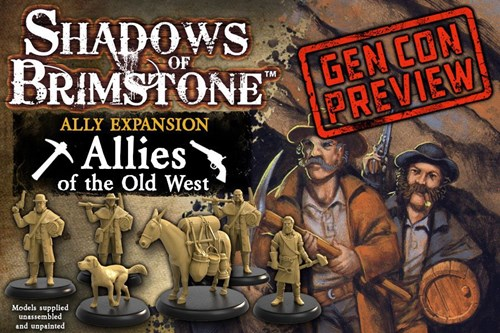 Shadows Of Brimstone Board Game: Allies Of The Old West Expansion