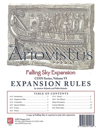 Falling Sky Board Game: Ariovistus Expansion And Update Kit