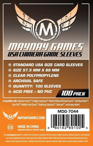 Mayday 100 Card Sleeves 57.5mm x 89mm