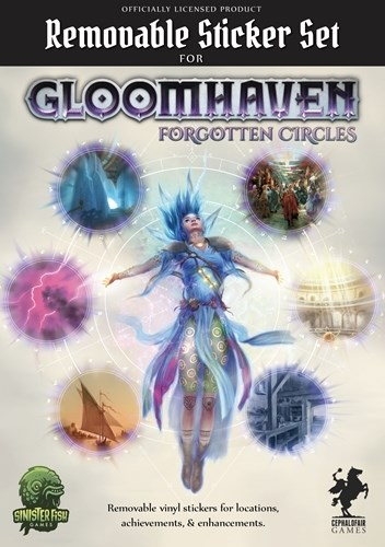 Gloomhaven Board Game: Forgotten Circles Removable Sticker Set
